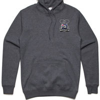 Reedys Rigs Coat of Arm Fishing Hoodie Grey Thumbnail