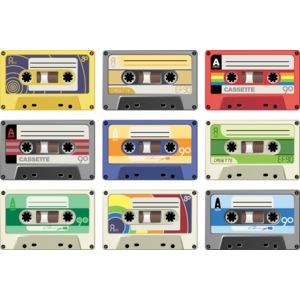 Colour cassette tapes Thumbnail