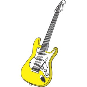 yellow electric guitar Thumbnail