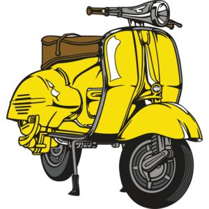 Yellow Vespa Scooter Thumbnail