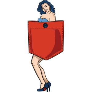 Pin up girl pocket Thumbnail
